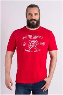 T-Shirt mit Brustprint von Kitaro.