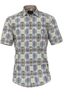 Kurzarm-Oberhemd mit Print von Casamoda.