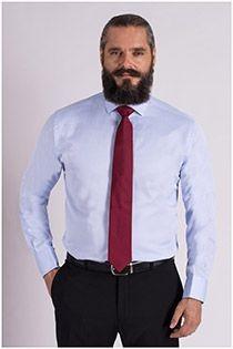 Uni Dresshemd van Plus Man.