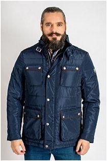 Sportliche EXTRA LANGE Jacke mit großen Taschen von der Marke Plus Man.