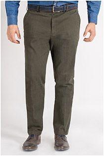 5-Pocket-Stretchhose aus Baumwolle von Plus Man.