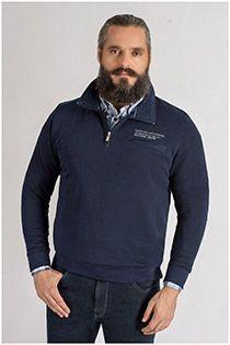 Pullover mit Reißverschlusskragen von Kitaro.