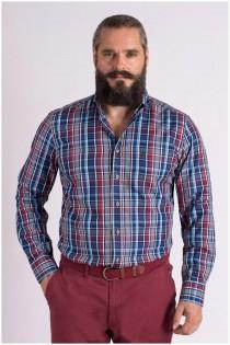 Kariertes Langarm-Oberhemd von Casa Moda.