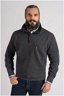 Pullover mit Reißverschlusskragen von Hajo.