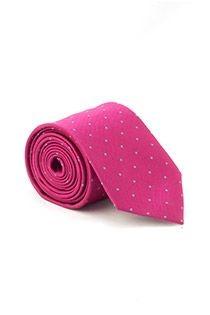 Plusman Krawatte mit Punktmuster.