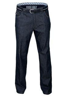 Elastische Jeanshose mit Gürtel von Luigi Morini.