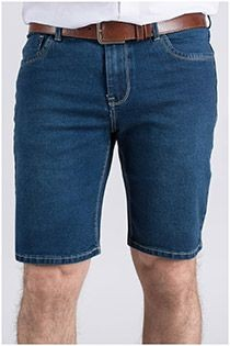 5-pocket stretch bermuda van Plus Man