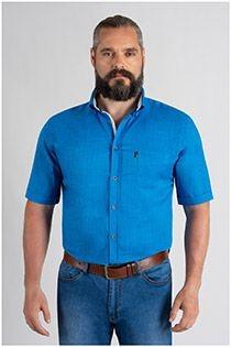 Uni-Shirt mit Leinenoptik von Plus Man.