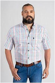 Kariertes Kurzarm-Freizeithemd von Plus Man.