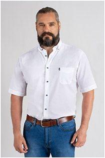 Uni Kurzarm-Oberhemd von Plus Man.