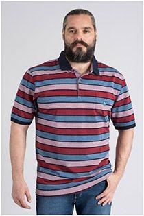 Elastisches, gestreiftes Kurzarm-Polohemd von Hajo