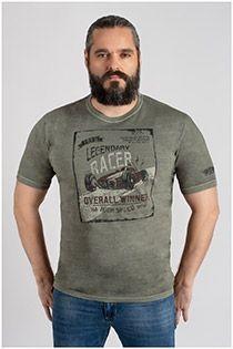 Kurzarm-T-Shirt im Washed-Look von Kitaro