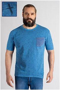 Kurzarm-T-Shirt mit Allover-Print von Redfield.