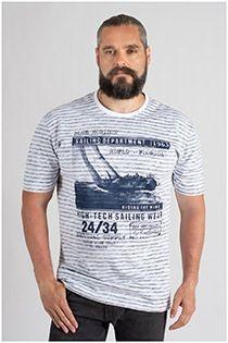 Redfield gestreiftes Kurzarm-T-Shirt.