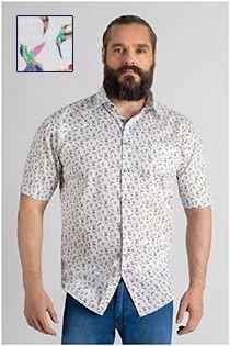 Allover bedrucktes Kurzarmhemd GCM Originals