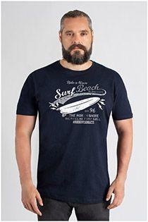 Kurzarm-T-Shirt mit Brustprint von Kitaro.
