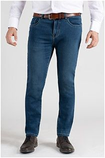 5-Pocket elastische Jeanshose von Plus Man.