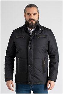 Sportliche Winterjacke mit großen Taschen von Plus Man