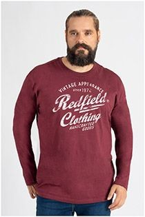 Langarm-Baumwoll-T-Shirt von Redfield.