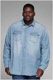 Jeansoberhemd von Jack & Jones.