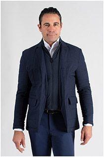 Elastische Jacke mit abnehmbarer Einsatz