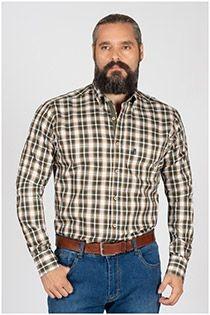 Kariertes Freizeithemd mit langen Ärmeln von Plusman