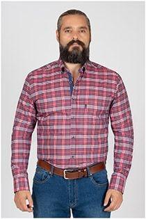 Kariertes Freizeithemd mit langen Ärmeln von Plusman.