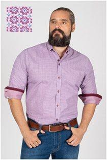 Bedrucktes Plusman-Hemd mit extra langen Ärmeln