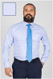 Plusman kariertes Dresshemd von Plus Man.