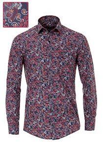 Casamoda Oberhemd mit extra langen Ärmeln und Paisley-Print