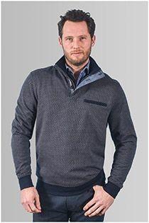 Meantime Sweatshirt mit Reißverschlusskragen
