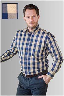 Kariertes Langarmhemd von GCM Originals
