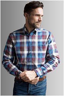 Langarm Flanellhemd von GCM Originals