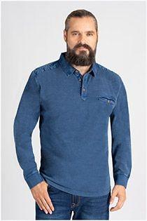 Vintage Langarm-Poloshirt von Hajo.