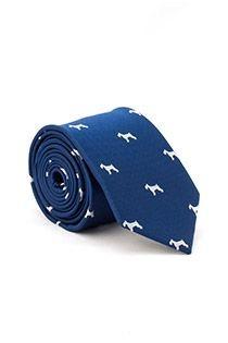 Bedruckte extra lange Krawatte von Plusman