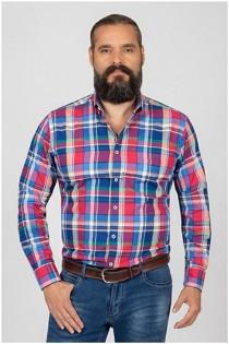 Kariertes Langarm-Oberhemd von Plusman