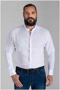 100% Leinenhemd von Plusman
