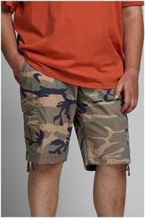 Cargo-Shorts von Jack & Jones mit Tarnmuster