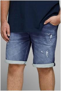 Bermuda aus elastischem Denim mit 5 Taschen von Jack & Jones