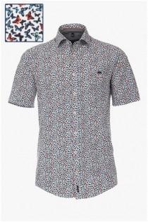 Kurzarm-Allover-bedrucktes Hemd von Casamoda