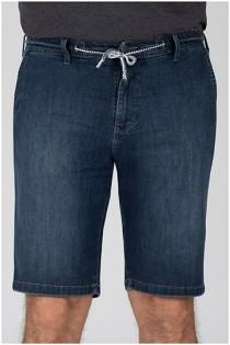 Hochelastische Jeans Bermuda von Pionier
