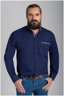 Einfarbiges Langarmhemd von Plusman