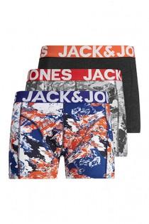 3-er Pack elastische Boxershorts von Jack & Jones.