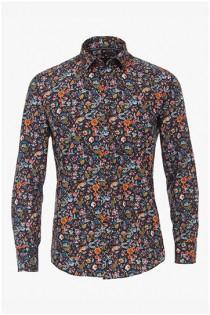 Allover bedrucktes Langarmhemd von Casamoda