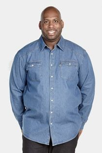 Langarm-Jeansoberhemd im Westernstil von Duke.