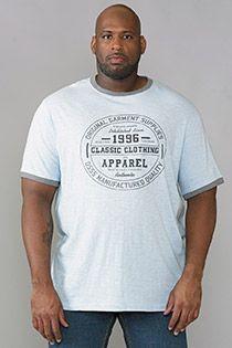 EXTRA LANGES Kurzarm-T-Shirt aus Baumwolle von D555.