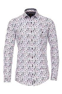 Langarm-Oberhemd mit Allover-Print von Casamoda, SONDERANGEBOT.