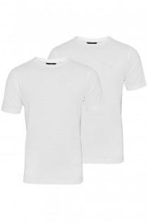2er-Pack uni Basic Kurzarm-T-Shirts von Kitaro.