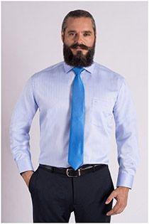 Gestreiftes bügelfreies Dresshemd von Casamoda.