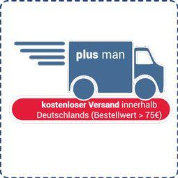 Kostenloser DE-Versand über 75€ bei Plusman.de